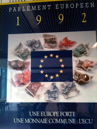 Campaign of the European Parliament in favor of the single currency